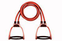 GJSHOP Toning Tube Resistance Band for Exercise or Workout [Pack of 1, Multicolor]