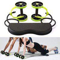 GJSHOP Foldable Revoflex Xtreme Rally Multifunction Pull Rope Wheeled Health Abdominal Muscle Training Home Fitness Equipment