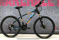 Make 26 T Sports Mountain Cycle with 21 Shimano Gears and Dual disc Brakes (1 Year Frame Warranty) (Black-Orange)