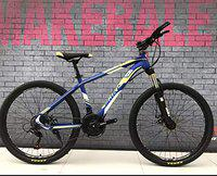 Make 26 T Sports Mountain Cycle with 21 Shimano Gears and Dual disc Brakes (1 Year Frame Warranty) (Blue-Green)