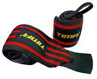Tima Wrist Wraps 21 Professional Grade with Thumb Loops - Wrist Support Braces for Men & Women - Weight Lifting, Xfit, Powerlifting, Strength Training (RED)