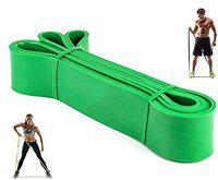 Fitness Guru Tension Resistance Stretch Band Exercise Loop for Workout Body Stretch Powerlifting Band - Green