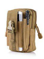 FORKLS Water Resistant Waist Belt Pouch, Sport Carry Pouch for Phone and Small Accessories (Khaki)