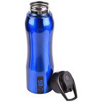 Urban Gear Stainless Steel Elektra Flip Cap Sports Bottle for School Kids, Men & Women - 750ml (BPA Free) Blue Color