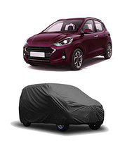 Amikan CAR Cover for Hyundai i-10 Grand nios Model    Export Quality Fabric    Water Resistant and UV Protection    Triple Stitched   Grey Color    V3XL    01   