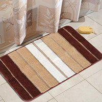 HOKIPO Large 50x80cm Soft Microfiber Bath Mats for Home, Brown (AR-3196-BR)