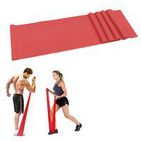 FITSY 5 Feet Red Latex Elastic Extra Heavy Resistance Band for Workout Yoga Exercise Pilates Band for Advanced Training Men Women
