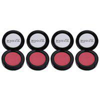 Bonjour Paris Photo Match Blush - Reddisk Pink (Combo Pack of 4 shades)12gm