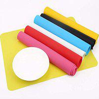 Maharsh Food Grade Heat Resistant Silicone Kitchenware Mat, Silicone Mat, Homeware Mat, Table Mat,Baking Mat, Countertop Protector, Non-Stick Silicone Pastry Mat, Size 30x40cm (Pink, 2)