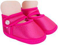 Neska Moda Baby Girls Pack of 1 Pair Satin Sandal Booties for 6 to 12 Months (Pink)