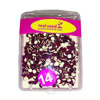 REAL SEED Daily Use Small Size Bindi/Tikali Combo Pack For Women/Girls (Bindi Size : 1.5) Color - Marron