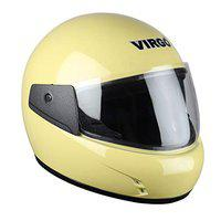 Airzed2 Full face helmet for men Yellow Glossy Clear