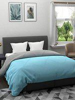 The Home Story 110 GSM All Weather Reversible Double Bed Dohar/Ac Blanket/Quilt; Aqua & Grey