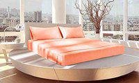 JVIN FAB Imported Bamboo Pure Double Bedsheet with 2 Pcs Pillow Cover Set 18x28(King Size Rose Gold, 100x108)