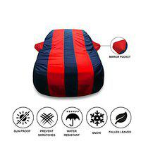 Oshotto Tafetta Car Body Cover with Mirror Pocket Compatible with Nissan Kicks (Red, Blue)