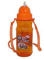 Pelo BPA-Free Water Bottle with Straw for Girls and Boys Sipper Water Bottle for School Kids Regular Use Orange Pack of 1