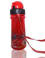 Pelo Cartoon Printed BPA-Free Water Bottle for School Kids Cute Sipper with Straw for Kids 500 ml Red Pack of 1