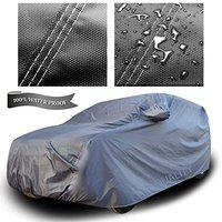 XGuard 4X4 Material Fabric 100% Waterproof Car Cover for Mitsubishi Outlander (Dark Grey with Mirror Pockets)