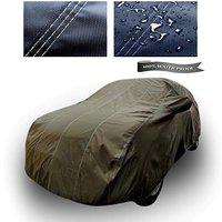 XGuard 4X4 Material Fabric 100% Waterproof Car Cover for Renault Duster (Dark Green with Mirror Pockets)