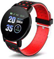 KEMIPRO Smart Band Fitness Tracker Watch Heart Rate with Activity Tracker Waterproof Body Functions Like Calorie Counter, Blood Pressure, Heart Rate Monitor LED Touchscreen (Red)