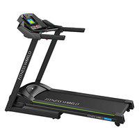 FITNESS WORLD - BRUCO Black Health and Fitness Exercise Motorized Treadmill, Running Machine for Home and Gym with Folding, Easy Assembly, Sturdy, Portable and Space Saving