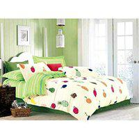 House of Sensation Bedsheet & 2 Pillow Cover King Size Bedsheet (Bedsheet Size: 230 X 250) & Comforter (Comforter Size: 230 X 250) Collection with Two Pillows Cover Delancey Comforter Set of 1