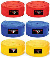 India Best Boxing Hand Wrap (Red+Blue+Yellow)