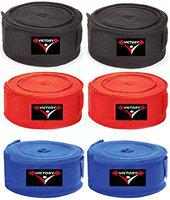 India Best Boxing Hand Wrap (Black+Red+Blue)