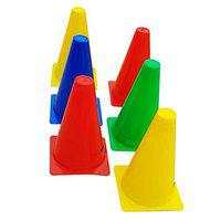 CW 6pcs Agility Cones Heavy Water Proof Training Sports Field Markers12inch