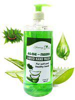 Glowing Buzz Liquid Handwash Enriched with Aloe and Neem Extracts (440 ml) (Set of 2)