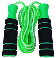 VICTORY India Best Jumping Skipping Rope -1004 Turbo Green Design Foam Handle