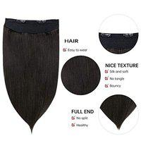 BLUSHIA Platinum Brown 5 Clip In Straight Hair Extension For Women and Girls