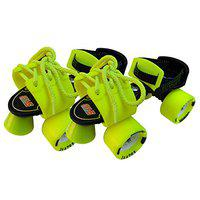Jaspo Tenacity Adjustable Senior Roller Skates Suitable for Age Group 6 to 14 Years (Yellow)