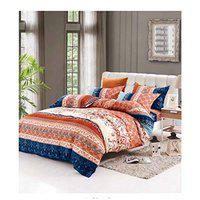 House of Sensation Polycotton Gardenia Double Size Bedsheets 230 x 250cm with 2 Pillow Covers - Set of 1