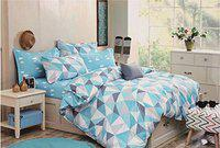 House of Sensation Cotton Fashion Double Bedsheets 230*250 cms Double Size with 2 Pillow Covers - Set of 1