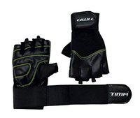 Tima Regular Gym Gloves with Wrist Support for Weight Training, Power-Lifting, Biking, Cycling Workout Gloves Weights Lifting Gloves for Blister and Callus Protection (Medium)