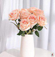 Pink Rose Artificial Flowers Bunch for Home Decoration, 10 Flower Heads in a 1 Bunch with Stem, Size- 2 x12 Inch's by Art Street