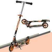 GoodLuck Baybee Runner Skate Scooter for Kids /Baby Runner Scooter with Adjustable Height, Foldable PU Wheels and Weight Capacity 60 kgs for Babies/Childrens Boys & Girls (3- to 12) Years (Orange)