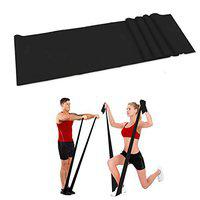FITSY 5 Feet Black Latex Elastic Resistance Band Heavy for Workout Yoga Pilates Band Exercise Bands for Experienced Users/Already Fit Men Women (AR3091-BLK)
