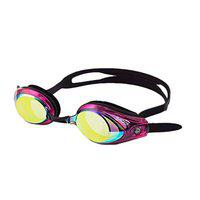Saeko Vision Mirror Swimming Goggle with Ultra Anti Fog, UV Protection for Adult's (Cherry)