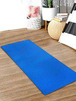 Kuber Industries 4 MM Extra Thick Yoga mat for Gym Workout and Flooring Exercise Long Size Yoga Mat for Men and Women, 6 x 2 Feet (Blue)-CTLTC47224