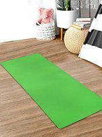 Kuber Industries 8 MM Extra Thick Yoga mat for Gym Workout and Flooring Exercise Long Size Yoga Mat for Men and Women,6 x 2 Feet (Green)-CTLTC47234