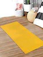 Kuber Industries 4 MM Extra Thick Yoga mat for Gym Workout and Flooring Exercise Long Size Yoga Mat for Men and Women,6 x 2 Feet (Yellow)-CTLTC47228
