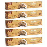 FRESHEE Food Wrapping Paper 5 Meters, Pack of 5, Parchment Paper Roll, Idle for Baking and Cooking, Freezer & Microwave Safe, Butter Paper for Food, Hygienic