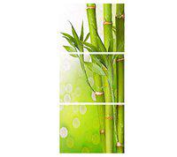 SAF Set of 3 Bamboo Stick Flower UV Coated 6MM MDF Home Decorative Gift Item Painting 12 inch X 27 inch AANFC12102