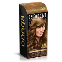 Enega Creme Hair Color 5 LIGHT BROWN (60gm + 60ml + 12ml Enega Color Protection Conditioner) Pack Of 12