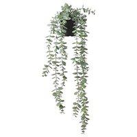 Ikea Aerglo FEJKA Artificial Potted Plant, in/Outdoor (Hanging Eucalyptus (Pot Length 9 cm), Plant (Length: 58 cm Weight: 0.33 kg Diameter: 12 cm))