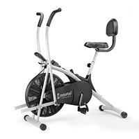 Cockatoo AB06WBC Stainless-Steel Indian Exercise Bike for Home Gym with Moving Handle, Back Support and Adjustable Cushioned seat, Others (Black) ISO 9001: 2015 Certified(DIY, Do IT Yourself Installation)