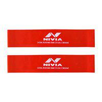 Nivia Lateral Resistance Band and Tubes 2.0 (Pack of 2, Red Level-2)