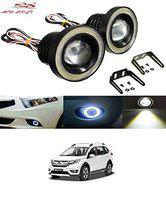 Auto Addict Car LED Fog Lights 3.5 High Power Led Projector Lamps Cob with White Angel Lights Eye Ring for Honda BRV